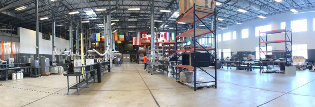 EarthLinked's LEED® certified manufacturing facility warehouse