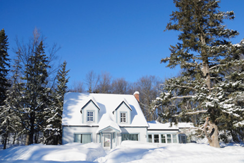 Geothermal heating, snow